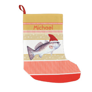 Speckled Trout Santa Small Christmas Stocking