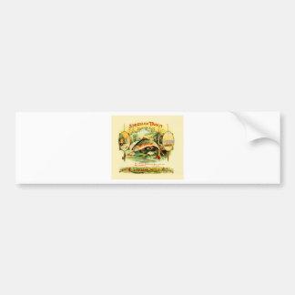 Speckled Trout Vintage Art Bumper Sticker