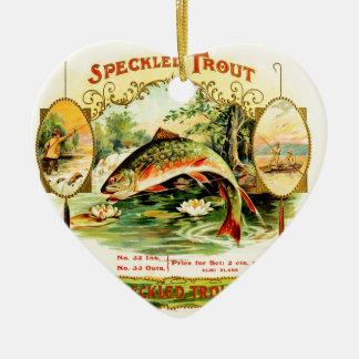 Speckled Trout Vintage Art Ceramic Ornament