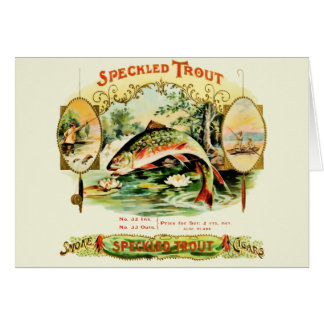 Speckled Trout Vintage Cigar Box Label Card