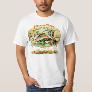 Speckled Trout Vintage Cigar Box Label T-Shirt