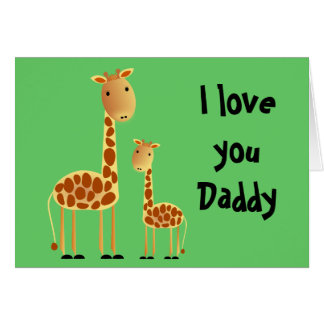 Speckles Father`s Day Greeting Card