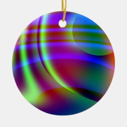 Specral Colors Ceramic Ornament