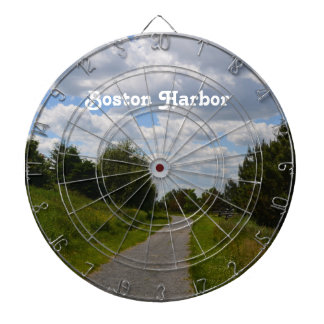 Spectacle Island in Boston Harbor Dartboard With Darts