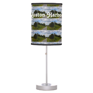 Spectacle Island in Boston Harbor Table Lamp