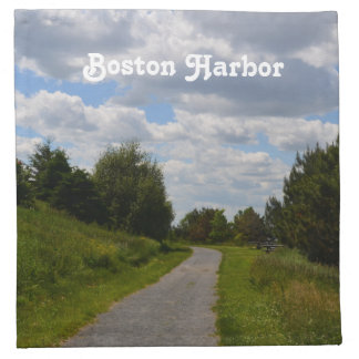 Spectacle Island in Boston Harbor Printed Napkin