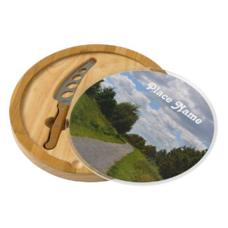 Spectacle Island in Boston Harbor Round Cheeseboard