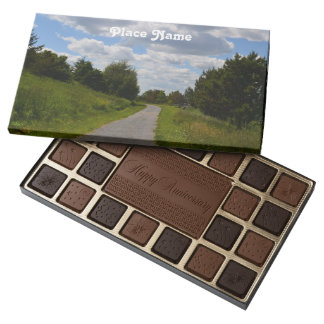 Spectacle Island in Boston Harbor 45 Piece Assorted Chocolate Box