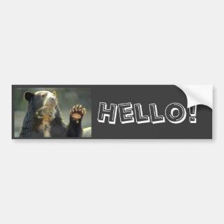 spectacled bear, Hello! Bumper Sticker