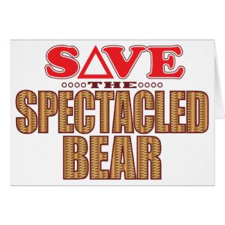 Spectacled Bear Save Card