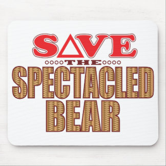 Spectacled Bear Save Mouse Pad