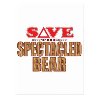 Spectacled Bear Save Postcard