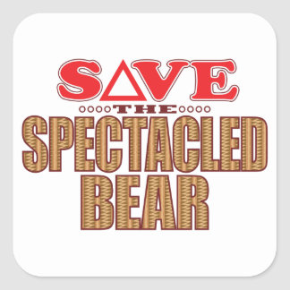 Spectacled Bear Save Square Sticker