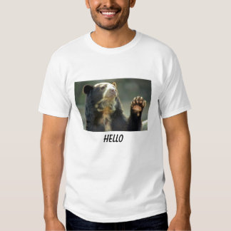 spectacled bear says HELLO T-Shirt