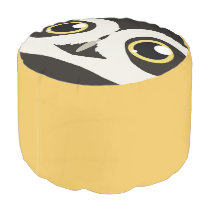 Spectacled Owl Pouf