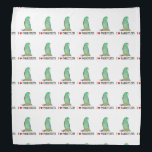 "Spectacled Parrotlets Bandana<br><div class=""desc"">Spectacled parrotlets decorates this pretty 19.5 X 19.5 bandana</div>"