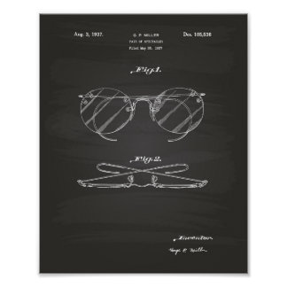 Spectacles 1937 Patent Art - Chalkboard Poster