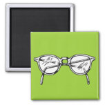 Spectacles 2 Inch Square Magnet