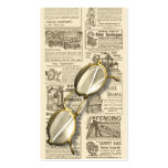 Spectacles and Newspaper Design Double-Sided Standard Business Cards (Pack Of 100)