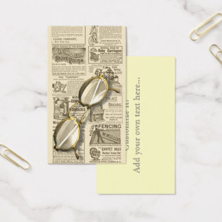 Spectacles and Newspaper Design Business Card