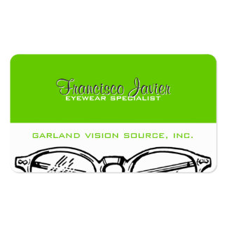 Spectacles Eyewear Optical Vision Double-Sided Standard Business Cards (Pack Of 100)