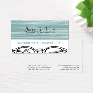 Optometry business cards templates zazzle spectacles eyewear optometry vision modern business card colourmoves Images