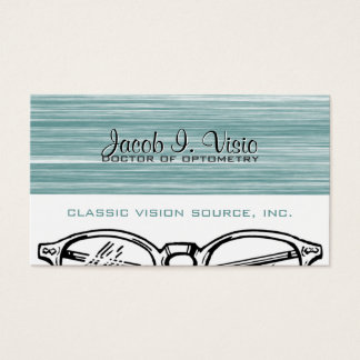 Spectacles Eyewear Optometry Vision Modern Business Card