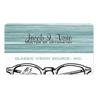 Spectacles Eyewear Optometry Vision Scratchy Double-Sided Standard Business Cards (Pack Of 100)
