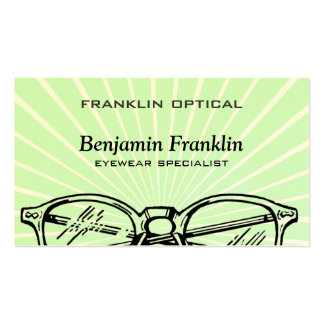 Spectacles Eyewear Sunburst Optical Vision Double-Sided Standard Business Cards (Pack Of 100)