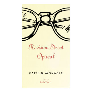 Spectacles Revision Eyewear Optical Vision Double-Sided Standard Business Cards (Pack Of 100)