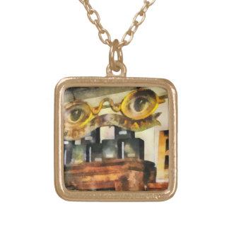 Spectacles Shop Square Pendant Necklace
