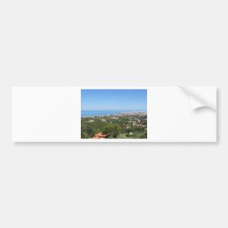 Spectacular aerial panorama of Livorno city, Italy Bumper Sticker