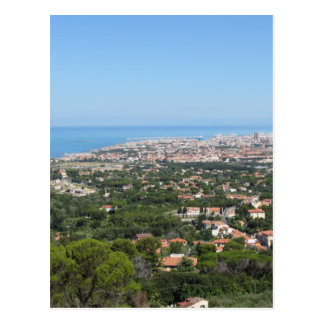 Spectacular aerial panorama of Livorno city, Italy Postcard