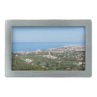 Spectacular aerial panorama of Livorno city, Italy Rectangular Belt Buckle