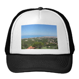 Spectacular aerial panorama of Livorno city, Italy Trucker Hat