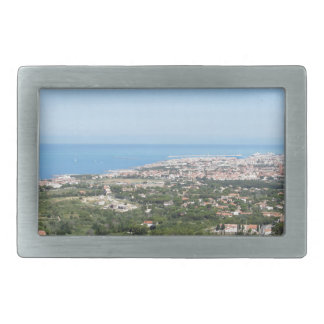Spectacular aerial panorama of Livorno city Rectangular Belt Buckle
