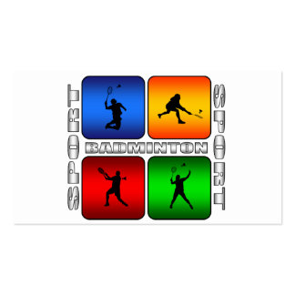 Spectacular Badminton Double-Sided Standard Business Cards (Pack Of 100)