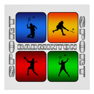 Spectacular Badminton Poster