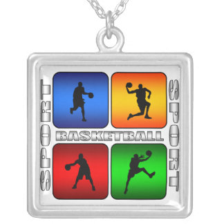 Spectacular Basketball Silver Plated Necklace