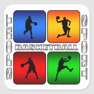Spectacular Basketball Square Sticker