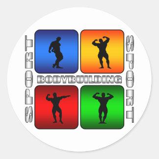 Spectacular Bodybuilding Classic Round Sticker