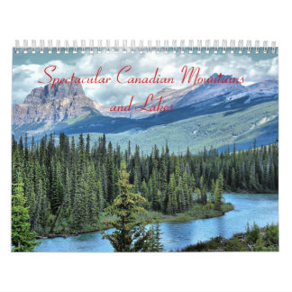 Spectacular Canadian Mountains and Lakes Calendar
