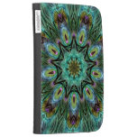 Spectacular Color Peacock Feather Kaleidoscope Kindle Case