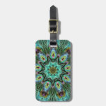 Spectacular Color Peacock Feather Kaleidoscope Tags For Bags