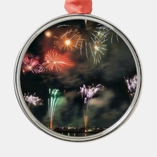 Spectacular Fireworks Metal Ornament