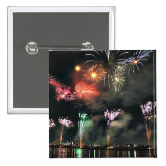Spectacular Fireworks Pinback Button