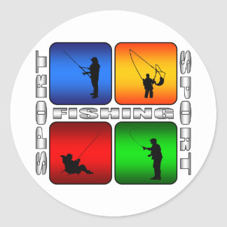 Spectacular Fishing Classic Round Sticker
