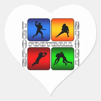 Spectacular Football Heart Sticker