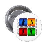 Spectacular Golf 2 Inch Round Button