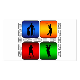 Spectacular Golf Double-Sided Standard Business Cards (Pack Of 100)